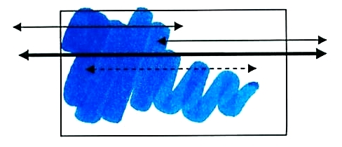 Swatch of Blue Madonna ink
